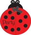 Ladybug Fancy Party Invitations (8 ct)  Lady bug party supplies (napkins, plates, etc)