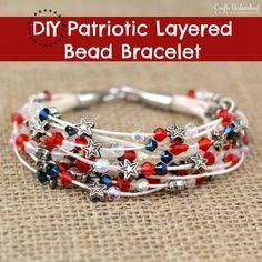 Bead Bracelet DIY: Patriotic Themed - Crafts Unleashed