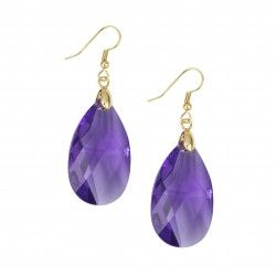Purple Teardrop Crystal Earrings $59 (AUD) | FREE Delivery* from Red Wrappings