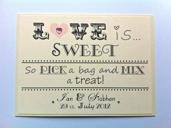 Personalised Sweet/Candy Buffet Sign