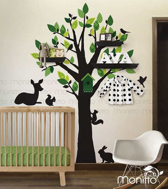Best Kids Removable Wall Decal Images On Pinterest Wallpaper - How to put up a tree wall decal