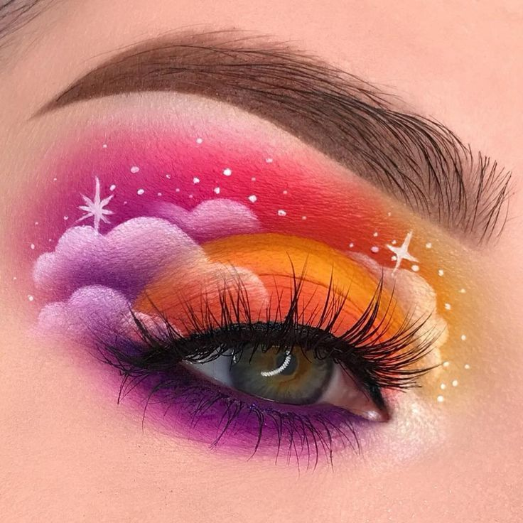 Magical Clouds Revealing The Dreamer In All Of Us Swayzemorgan Wearing Our Natalialitelashes Creative Eye Makeup Eye Makeup Art Artistry Makeup