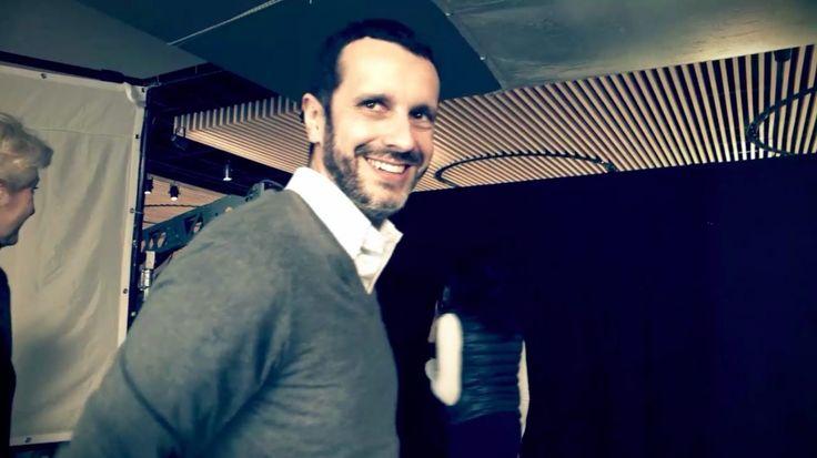 During TV shooting - backstage with Matteo Galimberti