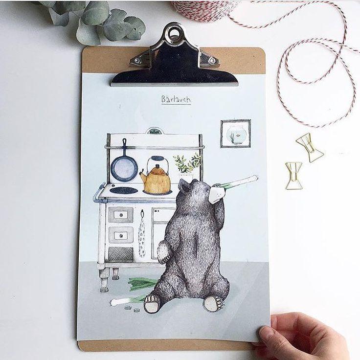 Wer kennt ihn nicht! Man erkennt ihn an seinem Brummen. Herr #Bärlauch  Dienstag Mood #shoplocal  Heute 11-18 Uhr  . . . . #loveyourlocal #schni #repost @from.sue #illustration #bear #draw #design #conceptstore #bonn #art #altstadtbonn  #paint #kitchen #daily #love
