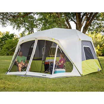 Core 10 Person Instant Cabin Tent With Screen Room Cabin