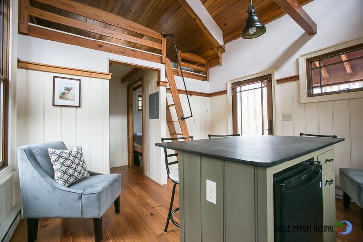The Bella Donna: a stylish and cozy cabin available for rent at the Blue Moon Rising Resort on Deep Creek Lake in Maryland!