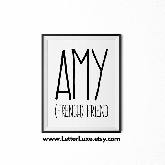 30 best last minute gift ideas for girls images on pinterest amy name meaning art printable baby by letterluxeprintables negle Image collections