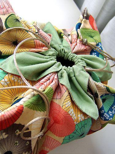 Origami Lotus Bag Tutorial | Exchanging Fire. Free pattern.