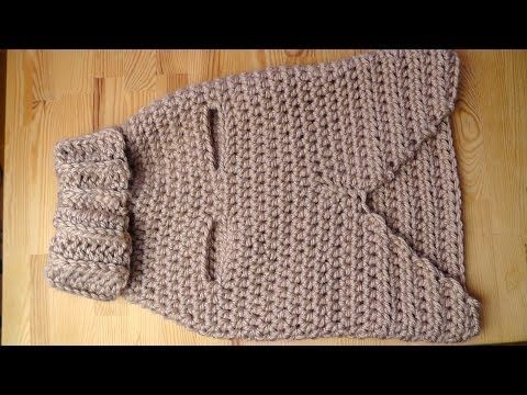 Doggy sweater crochet tutorial - Woolpedia - YouTube