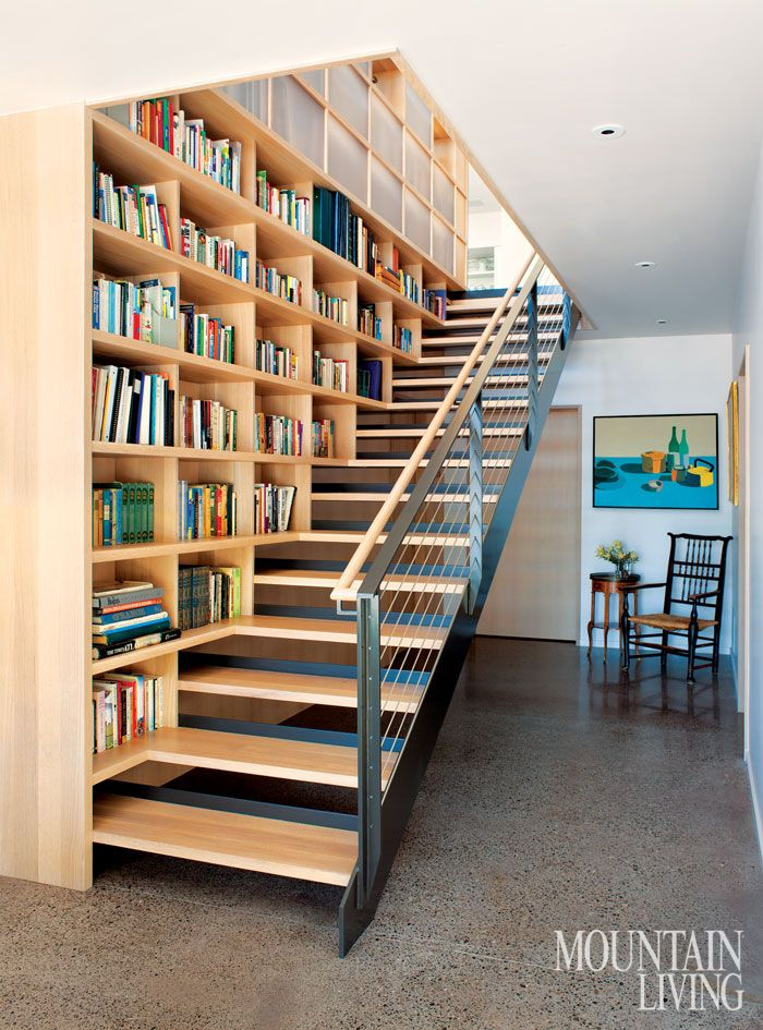 53 best staircases images on pinterest ladders for Mountain house library