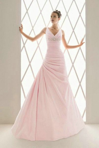 17 Best ideas about Pink Wedding Gowns on Pinterest | Beautiful ...