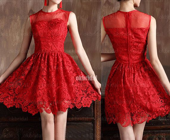 Hey, I found this really awesome Etsy listing at https://www.etsy.com/listing/165956214/lace-prom-dresses-red-prom-dresses-prom