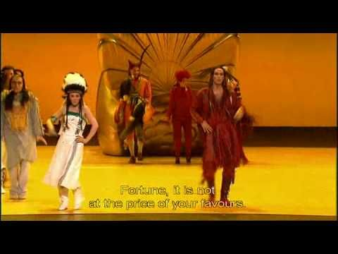 """Act Four, """"Les Sauvages"""" from Les Indes galantes. William Christie conducting and Andrei Serban directing. Patricia Petibon, my favorite opera singer, plays Zima. Everything about this production (Opera de Paris-Palais Garnier 2004) is lush and beautiful. I'm so happy I have this on DVD."""