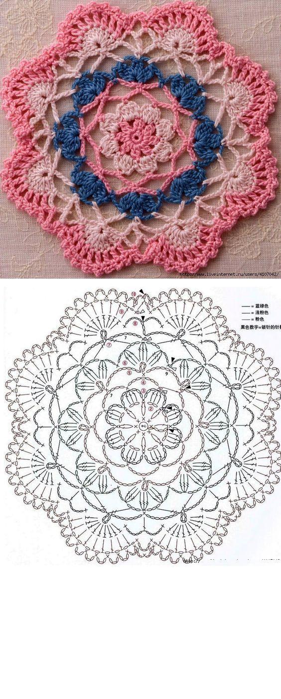 39 Patrones de mandalas en crochet | كروشيه | Pinterest