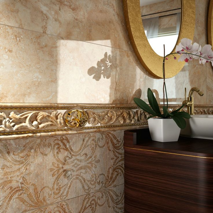 Colorker Royal Look Bathroom This Would Amazing In A Or Entryway Tile Adds Feel To Any Home Especially With All The