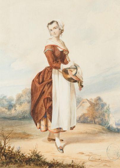Albert Żamett- Włoska mandolinistka, 1847 r.