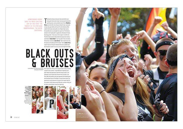 carolyn zhang // omg this layout is life.. and if we wanted to use a color from the picture to use for text like olivia wanted, we can maybe just change the color of captions??... McMinvilleHS_StudentLife_2014