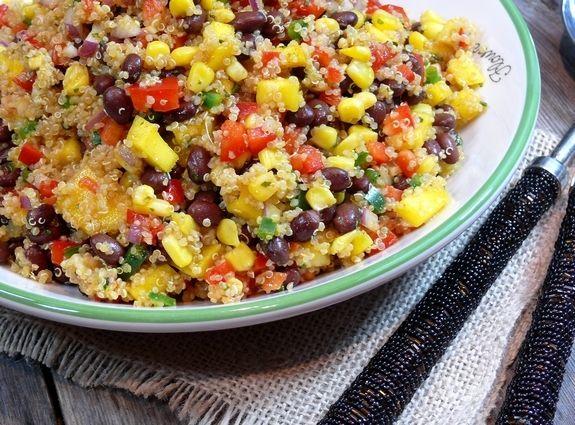 Southwest Quinoa with a Black Bean, Mango Medley from NoblePig.com
