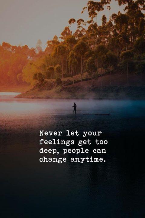 Never let your feelings get too deep.. via (http://ift.tt/2C0ZyKC)