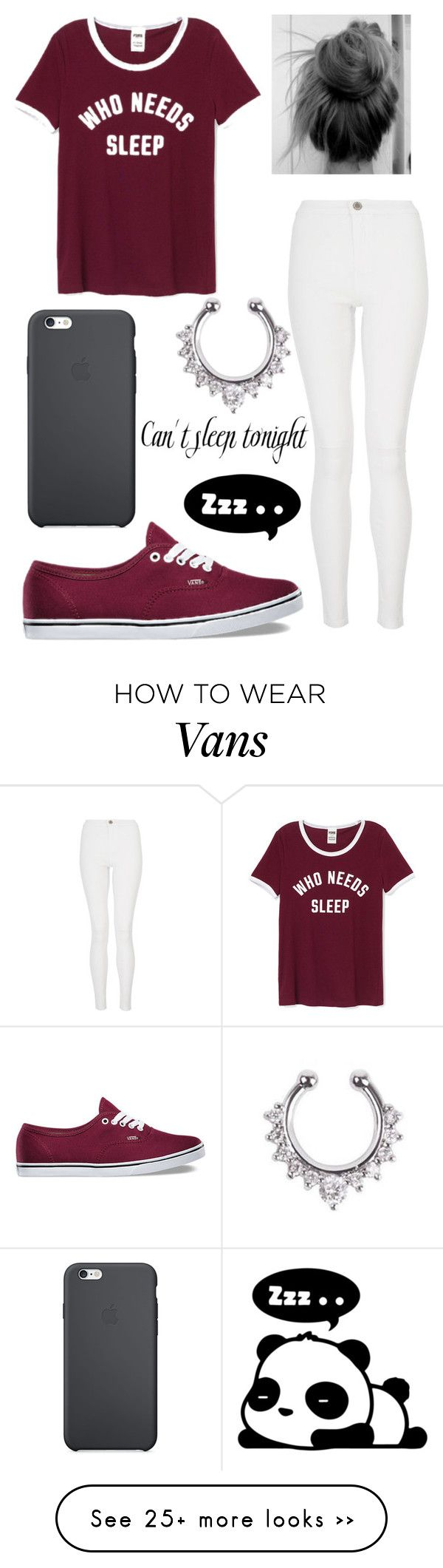 """""""Who Needs Sleep"""" by aissa1026 on Polyvore featuring Quiz, Vans and Hollywould"""