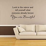 pegatinas de pared de estilo calcomanías de pared son hermosas palabras inglesas&cita pegatinas de pared del pvc