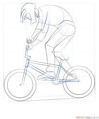 how to draw a bicycle easy