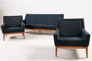 lounge sofagruppe: sofa og to lænestole fremstillet hos WK Möbel