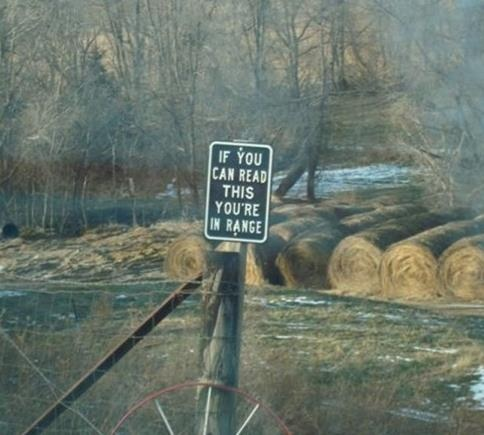 No Trespassing sign in Texas