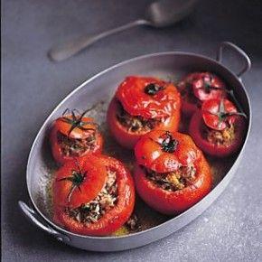 Beef Baked Stuffed Tomatos
