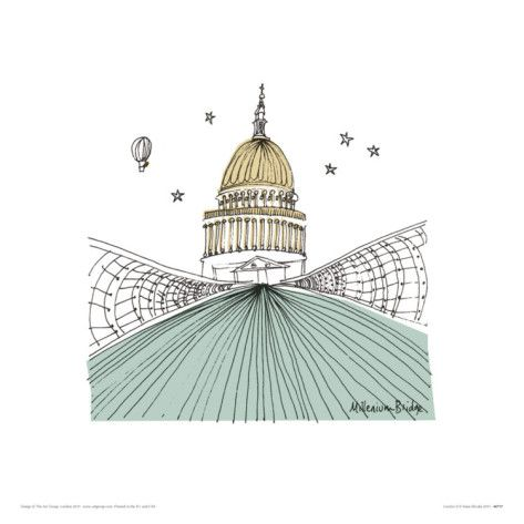 St. Paul's print by Susie Brooks.