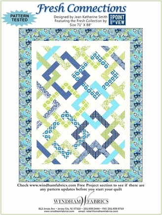 Fresh Connections. FREE PDF pattern from Windham Fabric!  Looks a little difficult because of all the fabric placement, but it would be well worth it.