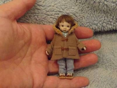 Miniature Handmade Mini BOY Child Ooak ART Doll House Artisan Dollhouse 1 12th | eBay (karens-mini-bears)