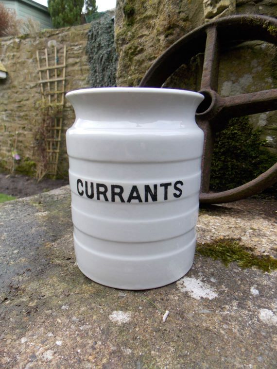 1930s Kitchen Currants Container
