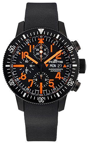 Limited Edition Fortis B-42 Black Mars 500 Automatic Chrono Mens Watch Calendar