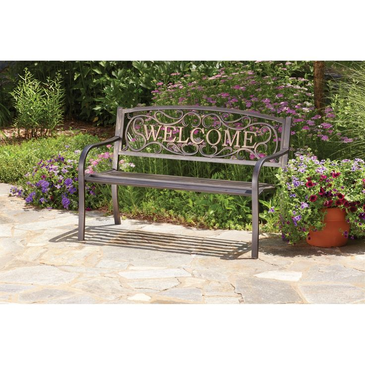 Living Accents Welcome Park Bench   Park Benches   Ace Hardware