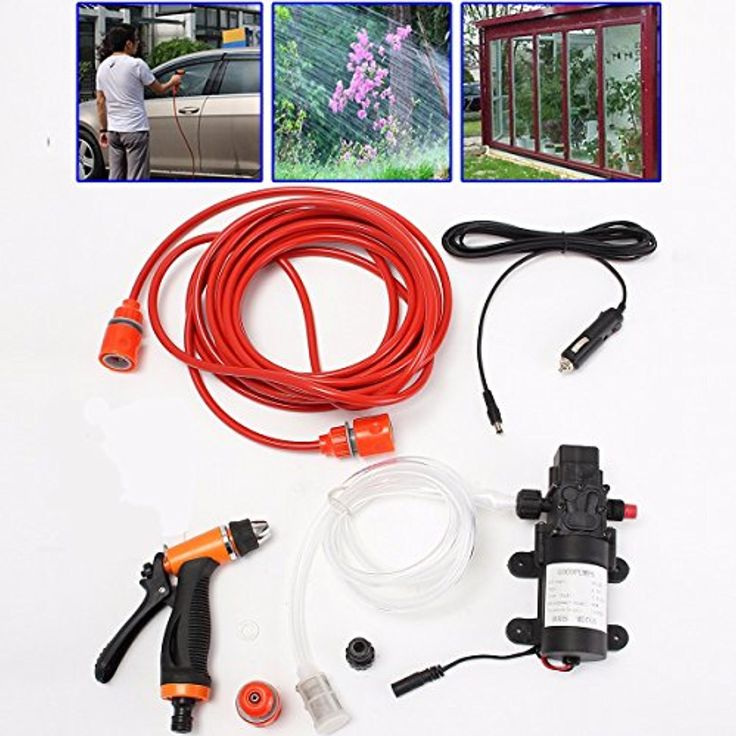 MATCC 12V 80W Portable Car Washer Electric Powerful 130 PSI Water Pump High Pressure -- Awesome products selected by Anna Churchill