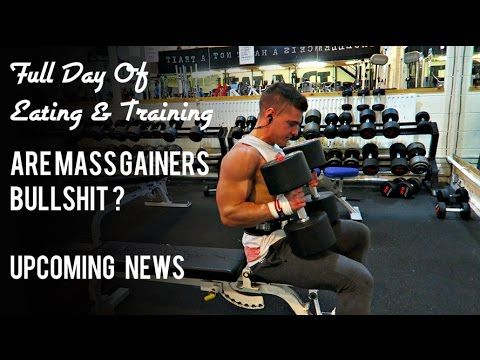 Full Day Of Everything - Mass Gainers, Chest And Back, iPhone 6s - YouTube