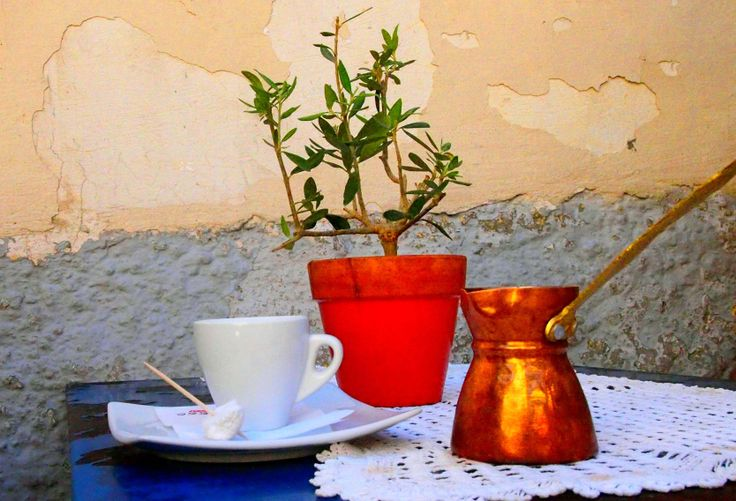 Goodmorning with a cup of Greek coffee