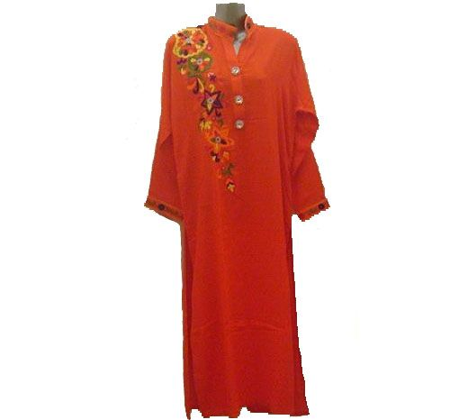 Orange, A-line shirt ,half collar with buttons  Product Code: OLFD-058  Price: Rs.1250.