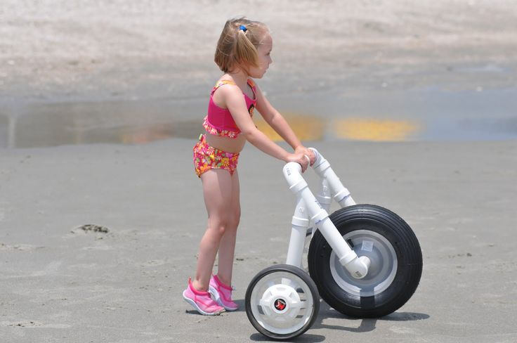I created this all-terrain walker for my daughter, who has mild cerebral palsy.  We love it on sand and in shallow water.