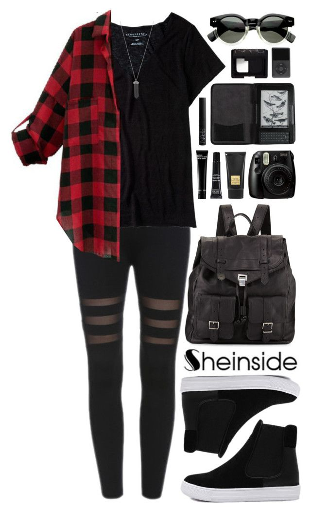 """SheIn 8"" by scarlett-morwenna ❤ liked on Polyvore featuring moda, Aéropostale, Proenza Schouler, Karen Kane, Tom Ford, MAKE UP FOR EVER, Bobbi Brown Cosmetics, Cole Haan, NARS Cosmetics e Sheinside"