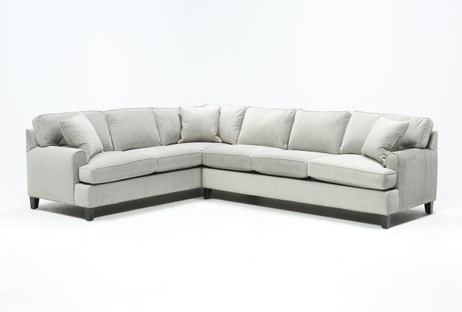 Donaver Ii 2 Piece Sectional With Right Arm Facing Sofa Sectional Grey Upholstery Neutral Palette