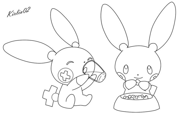 minun coloring pages - photo#7