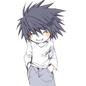 Okay, this is the cutest thing ever. L from Death Note. I was always on team L.