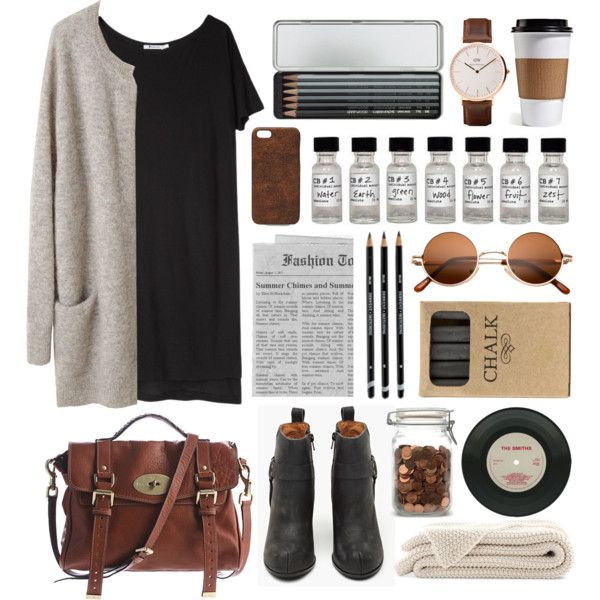 Grey by hanaglatison on Polyvore featuring T By Alexander Wang, Jeffrey Campbell, Mulberry, Maison Takuya, Daniel Wellington, Caran D'Ache and Jayson Home