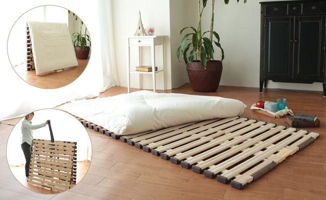 お布団にこもる湿気に 桐すのこです 室内干し台にもいいですよ すのこベッド 湿気対策 布団 寝具 アイエムリビング ベッド すのこベッド 模様替え