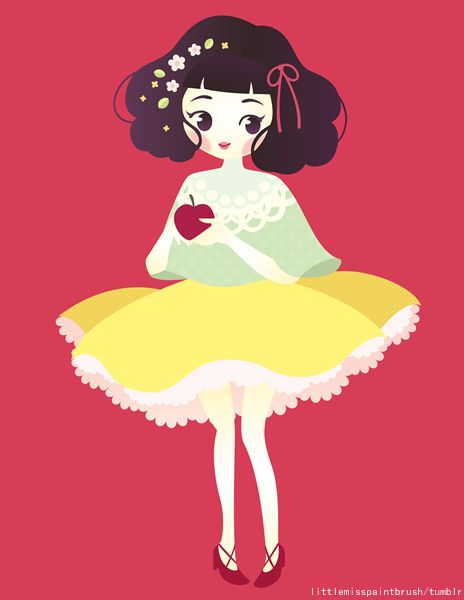 I made some drawings in honor of the 200th anniversary of the Grimm's Fairy Tales. This one is Snow White! :)
