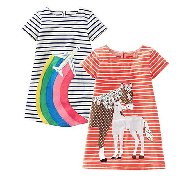 ed143850d Aliexpress.com : Buy 2pcs Baby Girls Cotton Dress Princess Children  Clothing Robe Fille Applique Kids Summer Tunic Jersey Dresses for Girls  Clothes from ...