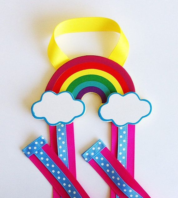 Rainbow Hair Bow Holder and Clip Organizer   Bow por leilei1202