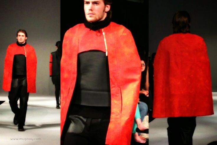 designed and tailored by Daniel Laudadio  - watch the runway pics here http://www.mugitaly.com/2014/06/future-of-fashion-fit-in-milan.html